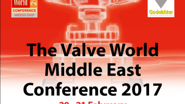 Meet us @ the Valve World Middle East Conference 2017